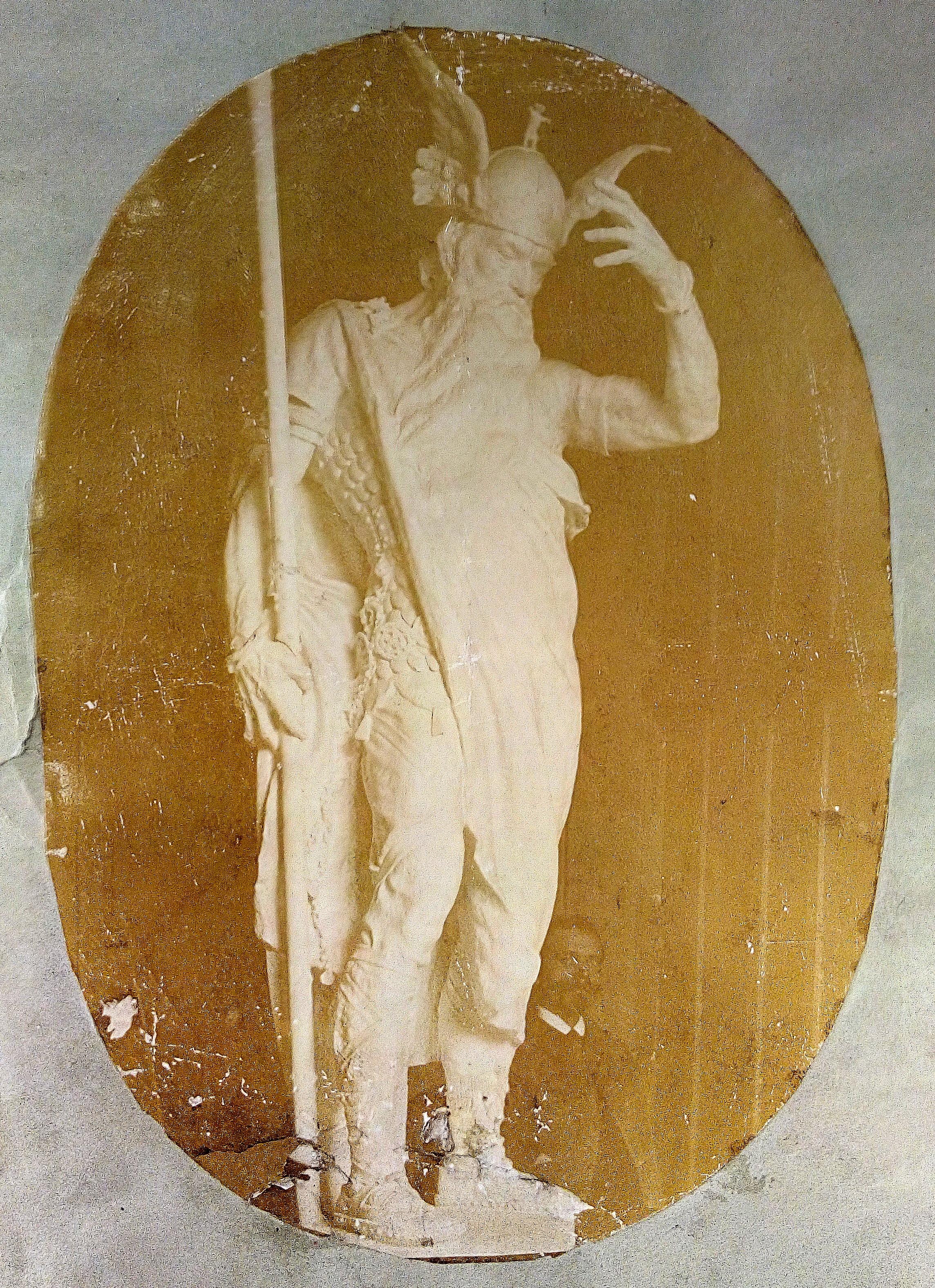 K. Wollek, Modello k soše Vannius pro Deutsches Haus, přebal rukopisu hry Guida List, König Vannius. Foto: autor